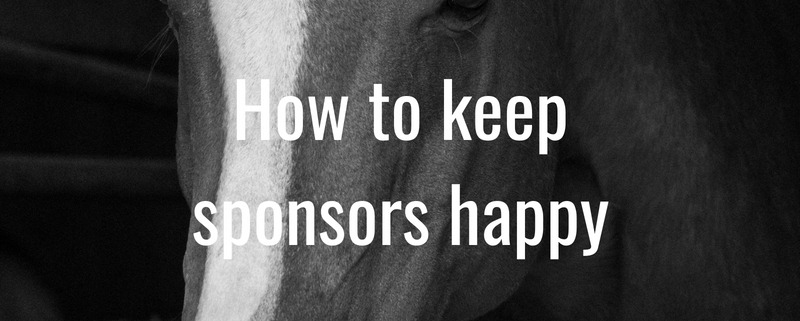 how to keep sponsors happy