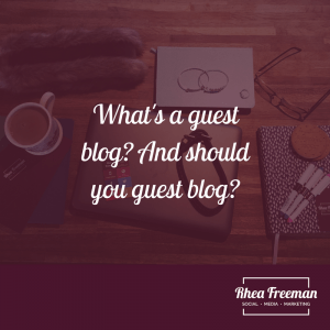 What's a guest blog?