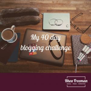40 day blogging challenge