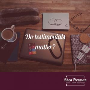 Do testimonials matter?