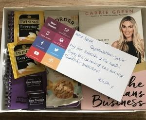Newsletter subscriber goody box