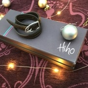 Hiho Silver Double Wrap Leather Bracelet