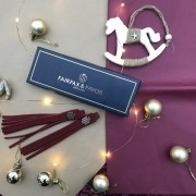 burgundy tassels from fairfax and favor