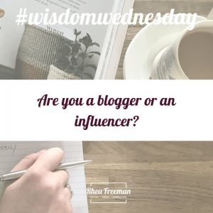 are you a blogger or an influencer?