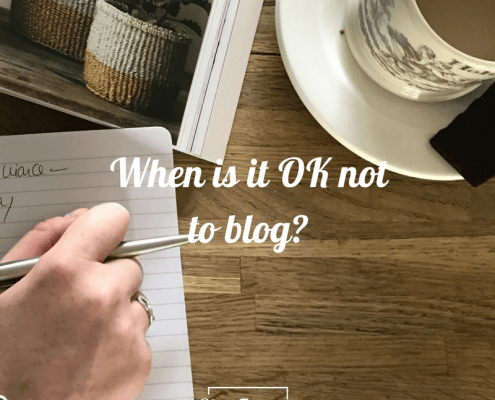 when is it OK not to blog