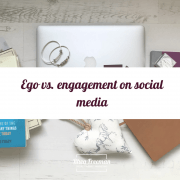 ego vs. engagement on social media