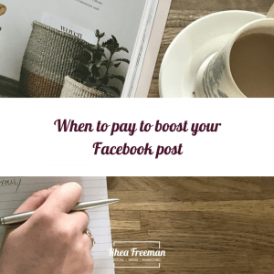 When to pay to boost your Facebook post