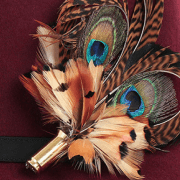 Mackenzie & George Feather Brooch