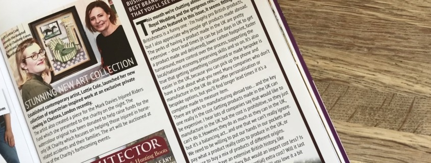 new column in absolute horse magazine