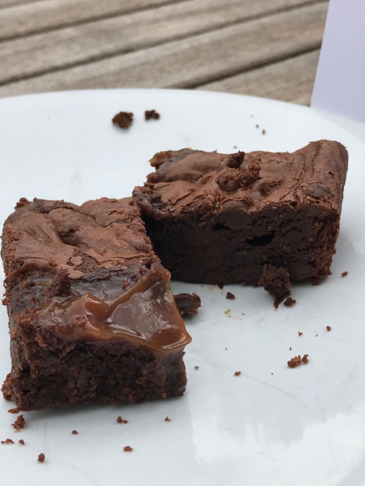 Cocoa May Salted Caramel Brownies