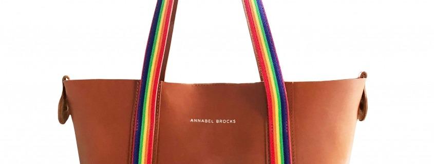 Lavenham Leather Tote - Rainbow Edition - Annabel Brocks