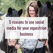 social media for equestrian business